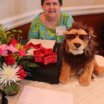 Peg and stuffed Lion with sunglasses